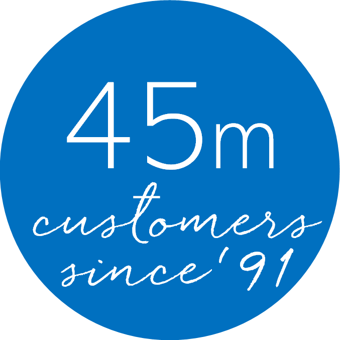 45m Customers since '91